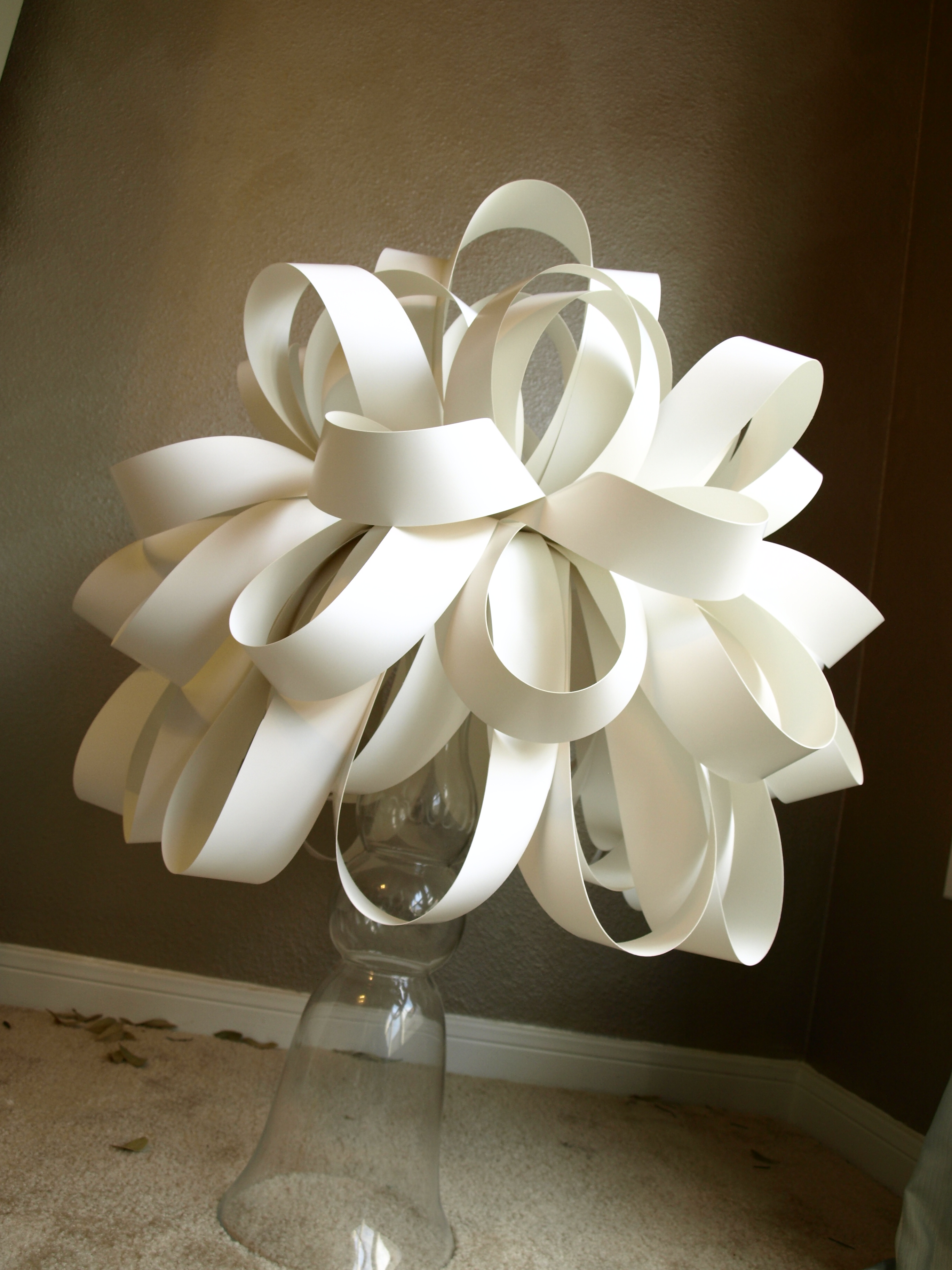 Paper light fixture see cate create - Paper light fixtures ...