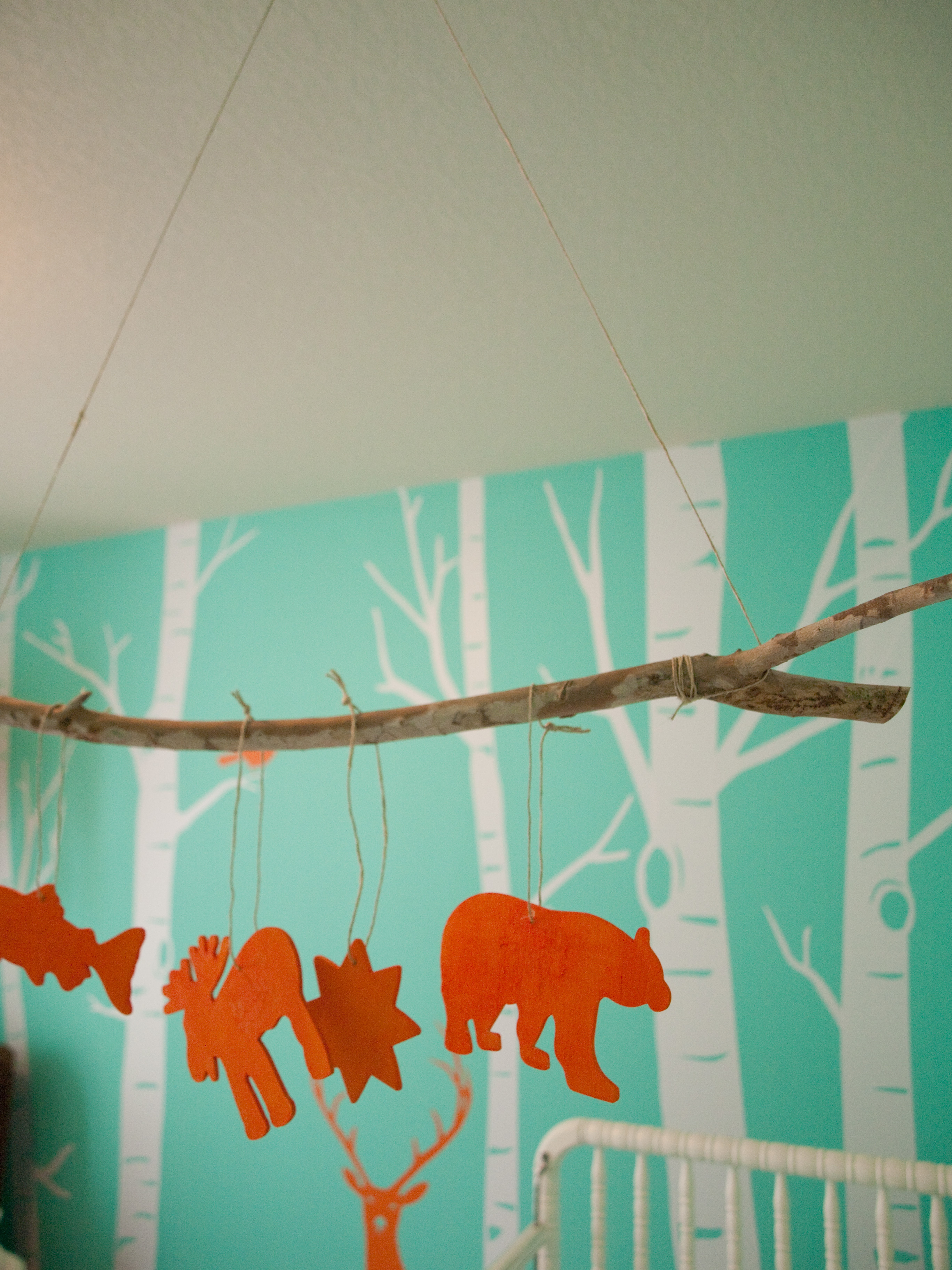 Tree branch curtain rods - This