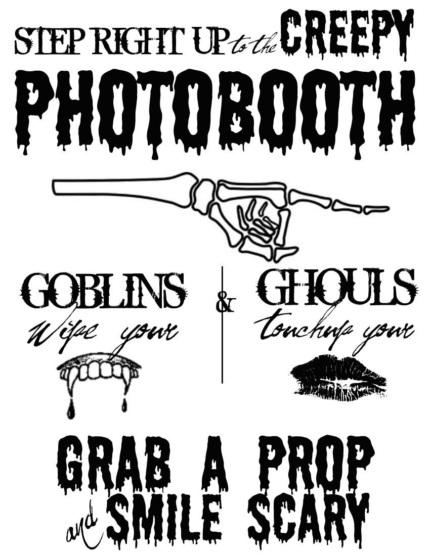 Decisive image with halloween signs printable